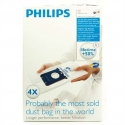 Philips s-bag Vacuum cleaner bags FC8021/03 4 x dust bags One standard fits all 50% longer lifetime 15% more capacity