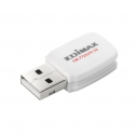 Edimax Wireless 802.11b/g/n 300Mbps USB 2.0 mini-size adapter, WPS button, 2T2R