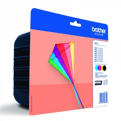 Brother LC223VALBPDR Value Ink Cartridge pack - black, yellow, cyan, magenta