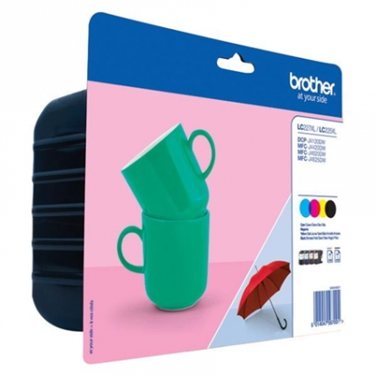 Brother LC227XL Value Ink Cartridge pack - includes LC227XLBK and LC225XLC/M/Y ink cartridges