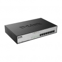 D-Link 8-Port Desktop Gigabit, 8 X PoE+ up to 30W, max. 140W