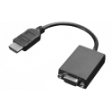 Lenovo HDMI to VGA 0.2 m, Black, Adapter