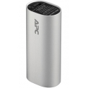 APC Mobile Power Pack, 3000mAh Li-ion cylinder, sidabrinis