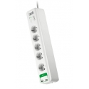 APC Essential SurgeArrest 5 outlets with 5V, 2.4A 2 port USB charger 230V Schuko