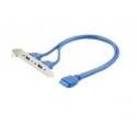CABLE USB3 DUAL ON BRACKET/CC-USB3-RECEPTACLE GEMBIRD