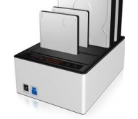 Raidsonic ICY BOX bay JBOD docking and cloning station with USB 3.0 for SATA hard disks and SSDs IB-141CL-U3 Black/Silver