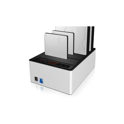 Icy Box Docking and Clone Station for 4x 2.5'' & 3,5'' HDD SATA, USB 3.0, JBOD