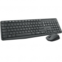 Logitech MK235 Wireless Keyboard and Mouse Combo, GREY, US