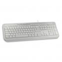 MS Wired Keyboard 600 USB Port English International Europe 1 License White