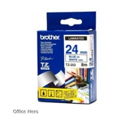 BROTHER TZE253 24 BLUE ON WHITE