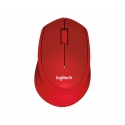 Logitech® M330 Silent Plus RED - IN-HOUSE/EMS,NO LANG,EMEA,RETAIL,2.4GHZ,M-R0051