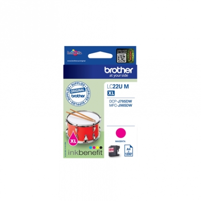 Brother LC-22UM Ink Cartridge, Magenta
