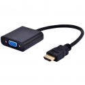 Gembird adapter HDMI-A(M) ->VGA (F) + audio, on cable, black