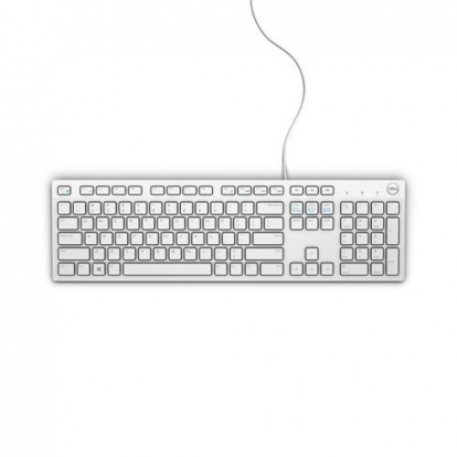 Dell Multimedia Keyboard-KB216 - US International (QWERTY) - White