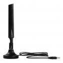 Edimax AC600 Dual Band 802.11ac USB adapter, 2,4GHz+5GHz, 4/6dBi antenna cradle