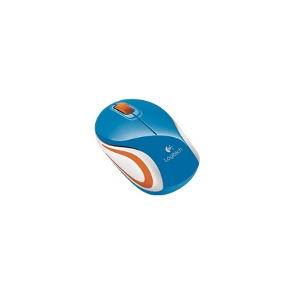 LOGITECH Mouse Wireless M187 Mini Mouse Blue - Tiny unifying nano receiver - Muis Blauw Draadloos