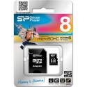 SILICONPOW SP008GBSTH010V10SP Silicon Power memory card Micro SDHC 8GB Class 10 +Adapter