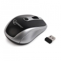 Gembird Wireless optical mouse MUSW-002, 1600 DPI, nano USB, black-silver