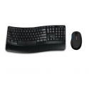 Microsoft L3V-00021 Sculpt Comfort Desktop Standard, Wireless, Keyboard layout EN, Black, Mouse included, Numeric keypad