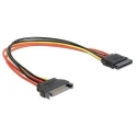 Gembird extention cable power SATA 15pin (M/F) 30 cm