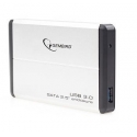 HDD/SSD enclosure Gembird for 2.5'' SATA - USB 3.0, Aluminium, Silver