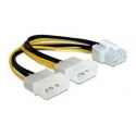 Gembird Power cable 8 pin EPS female > 2x 4 pin Molex male