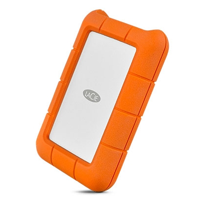 LACIE RUGGED 1TB USB-C USB3.0 Drop- crush- and rain-resistant for all-terrain use orange