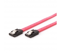 Gembird Serial ATA III 50 cm Data Cable, metal clips, red
