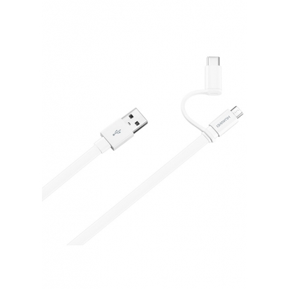 AP55S 2 in 1 Data cable with type-C adaptor 1.5 m AP55S (White)