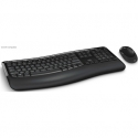 Microsoft Comfort Keyboard 5050 PP4-00019 Keyboard and mouse, Wireless, Keyboard layout EN, Mouse included, English, 829 g, USB, Black, No, Numeric keypad, Bluetooth, Wireless connection Yes