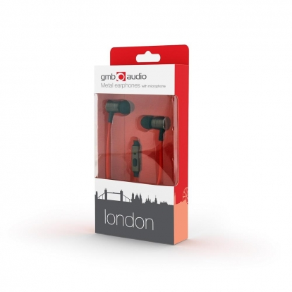 Gembird Metal earphones with microphone, ''London''