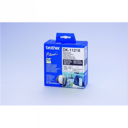 """BROTHER DK11218 1""""ROUND PAPER LABELS"""