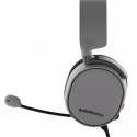 SteelSeries Grey, Built-in microphone, Dual 3.5mm, 3-Pole Plug or Single 3.5mm, 4-Pole Plug via included adapter, Gaming headsets, Arctis 3