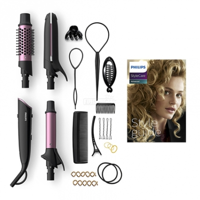 Philips StyleCare Multi-Styler BHH822/00 15+ styles in a box 15 attachments & accessories Style Guide OneClick Technology