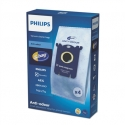 Philips disposable dust bag FC8023/04 4 s-bag Anti-odour 15% more capacity Hygienic closing system
