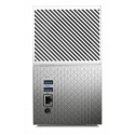 WD My Cloud Home Duo 4TB NAS 2xHDD Mirror Mode 1,4GHz QuadCore processor 1GB DDR3L RAM USB3.0 External RTL