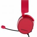 SteelSeries Red, Built-in microphone, Dual 3.5mm, 3-Pole Plug or Single 3.5mm, 4-Pole Plug via included adapter, Gaming headsets, Arctis 3