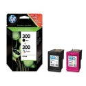 Rinkinys HP 300 black + tri-colour Combo Pack | D2560/F4280
