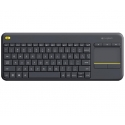 LOGITECH Wireless Touch Keyboard k400 Plus - INT BLACK