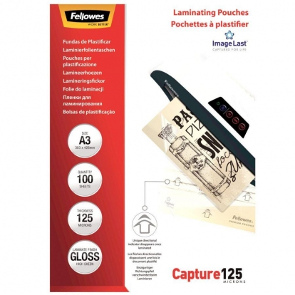 Laminavimo vokas Fellowes 125 µ, 303x426 mm - A3, 100 vnt.
