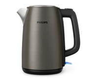 Philips Kettle HD9352/80 2200W 1.7l, solar titanium colored metal kettle, spring lid