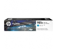 Ink HP 981X cyan | 10 000 pgs | HP PageWide Enterprise 556/586