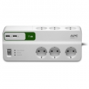APC Essential SurgeArrest 6 outlets with 5V, 2.4A 2xUSB charger, 230V, Schuko
