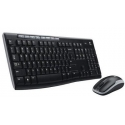 Logitech MK270 Wireless Keyboard and mouse pack, Keyboard layout QWERTY, USB, Black, Mouse included, Russian, Numeric keypad