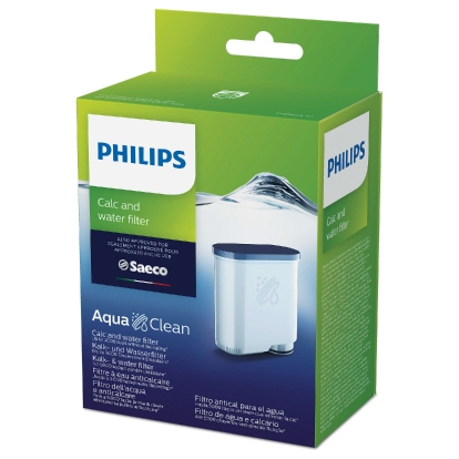 Philips Calc and Water filter CA6903/10 Same as CA6903/00 No descaling up to 5000 cups* Prolong machine lifetime 1x AquaClean Filter