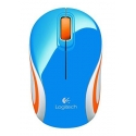 LOGITECH Mouse Wireless M187 Mini Mouse Blue - USB receiver - Muis Blauw Draadloos