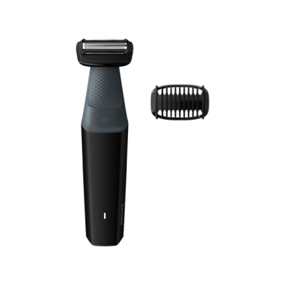 Philips 3000 series showerproof body groomer BG3010/15 Skin friendly shaver 1 click-on comb, 3mm 50mins cordless use/8h charge.