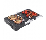 ECG KG 300 Deluxe Contact grill 2000 W 3 working positions - for scalloping, grilling and BBQ