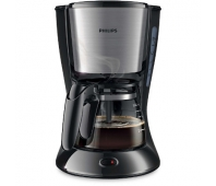 Philips Daily Collection Coffee maker HD7435/20 With glass jug Black & metal