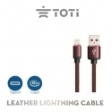 Leather Lightning to USB cable T-LC23 (Brown)